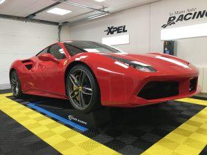 Ferrari 488 GTB Rouge Le Mans Auto Racing