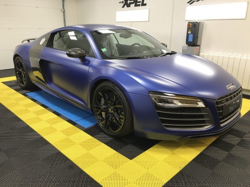 Audi R8 V10 Plus Bleu Sepang Mat Le Mans Auto Racing