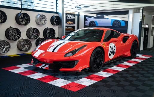 Ferrari 488 Pista Rosso Dino Le Mans Auto Racing